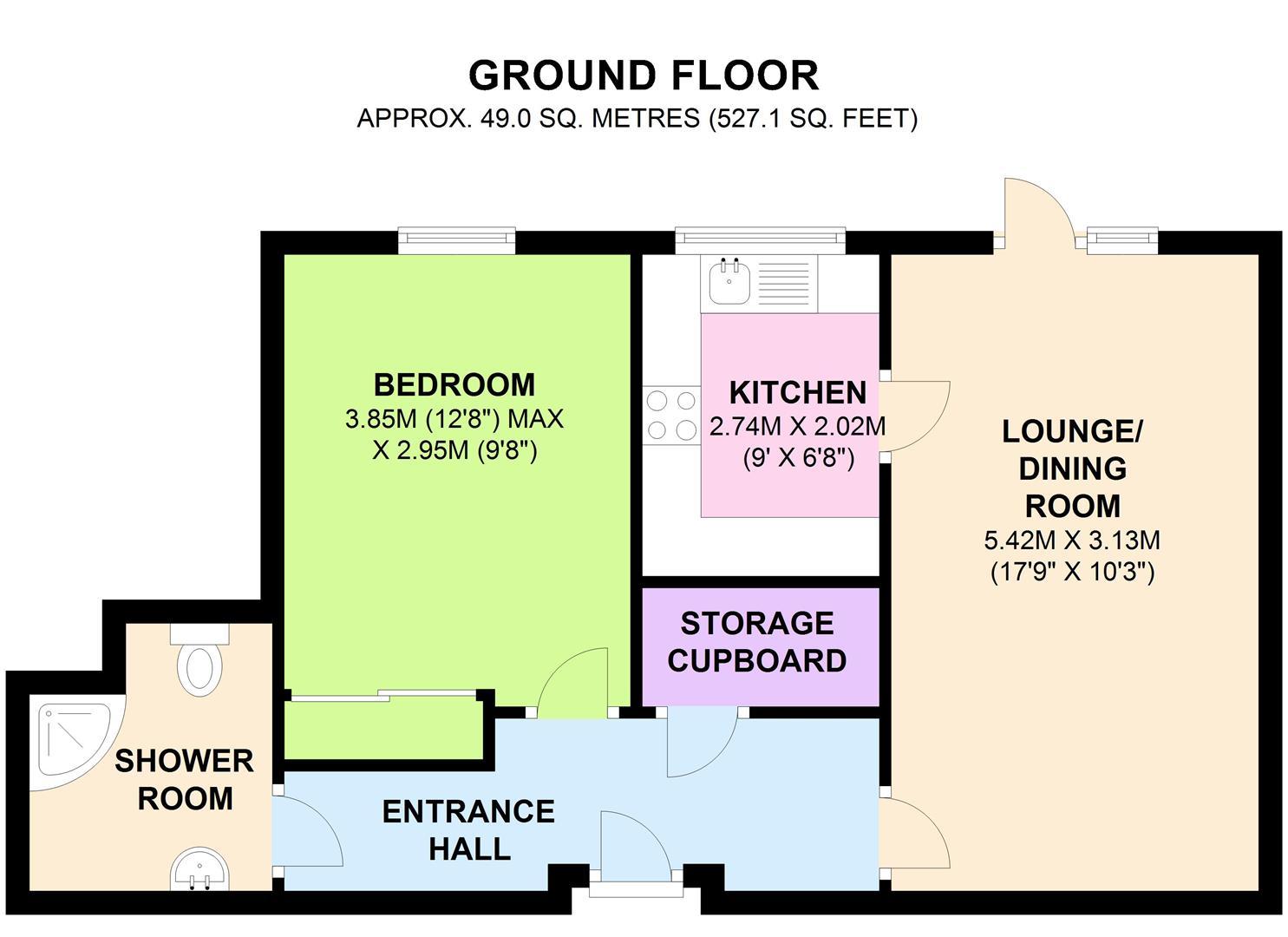 Flat 12, Lord Rosebery Lodge, Elm Grove, Epsom.JPG